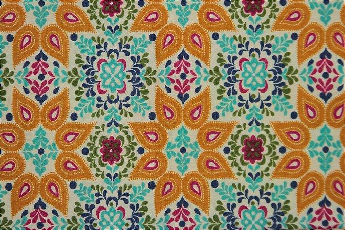 Tecido para Patchwork Novo México Palha (0,50m x 1,50m)