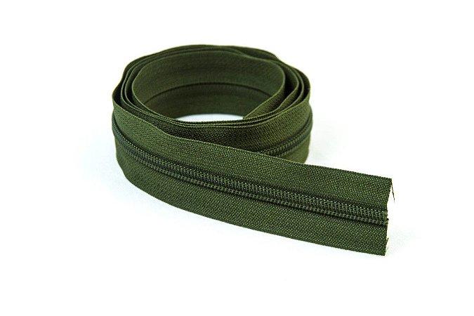 Zíper Grosso Verde Escuro 3cm Coats
