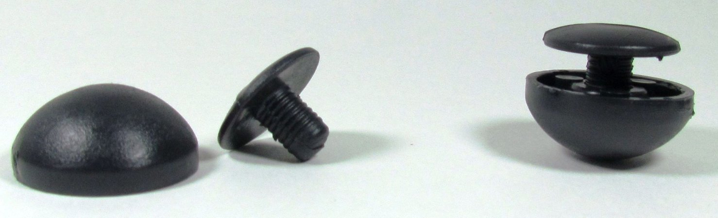 Cravo Plástico Preto 23mm