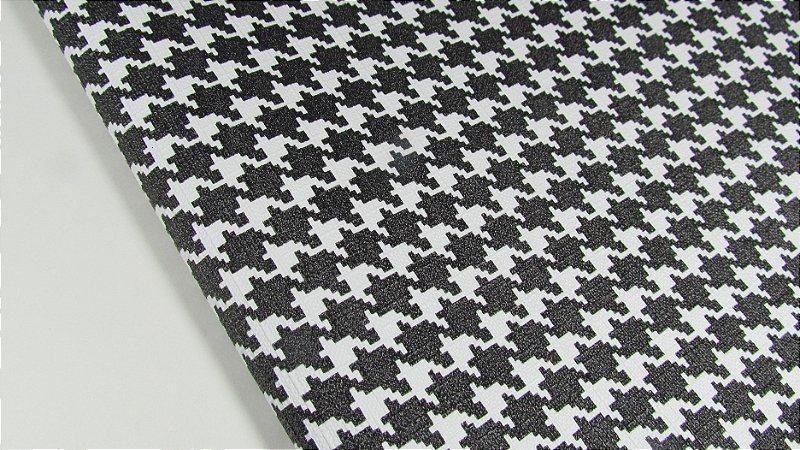PVC Pied Poule Preto (0,50m x 1,40m)