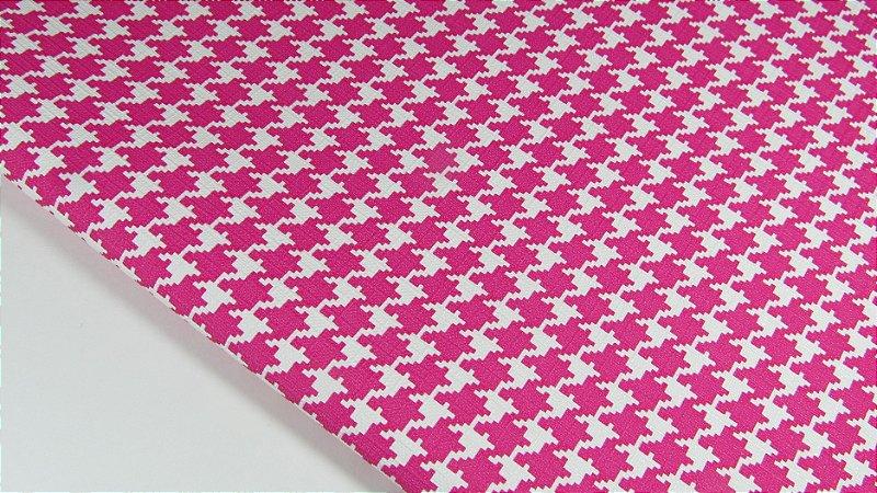 PVC Pied Poule Pink (0,50m x 1,40m)