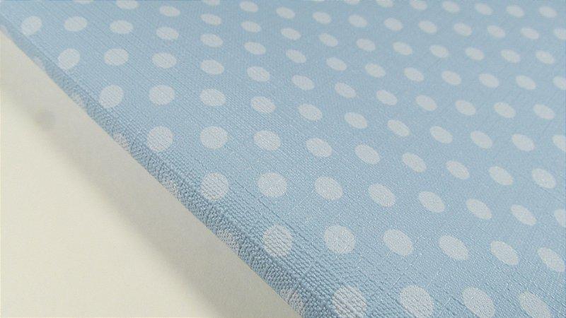 PVC Textura Linho Poá Azul Claro (0,50m x 1,40m)