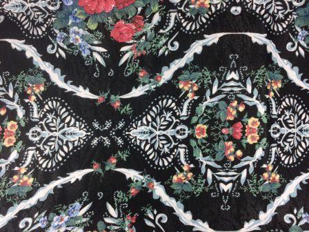 Tecido de Decoração Floral Rosas Vermelhas (0,50m x 1,40m)