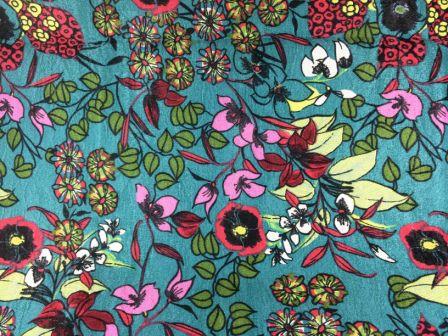 Tecido de Decoração Floral fd. Jade (0,50m x 1,40m)