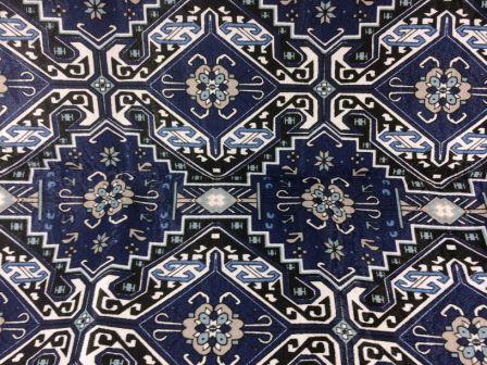 Tecido de Decoração Azulejo Azul Marinho (0,50m x 1,40m)