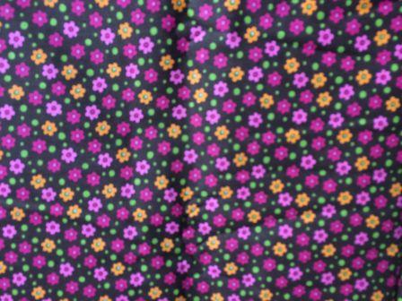 Tecido para Patchwork AL Floral Miúdo Marrom (0,50m x 1,50m)
