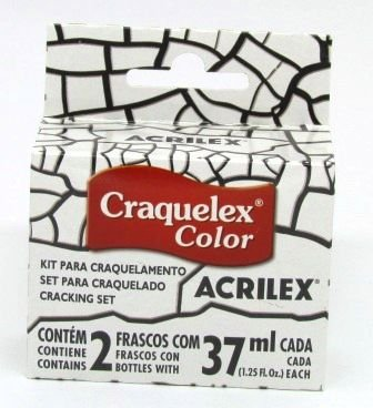 Kit Craquelê Color 37ml Incolor Acrilex