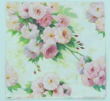 Guardanapo 33cm x 33cm Floral fd. Creme (2 unidades)