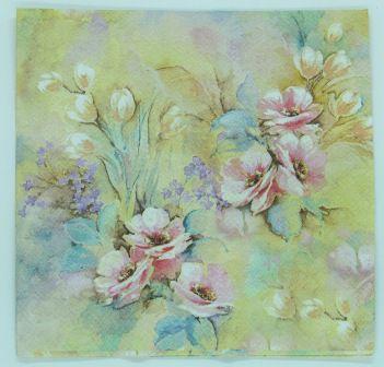 Guardanapo 33cm x 33cm Floral fd. Aquarelado (2 unidades)