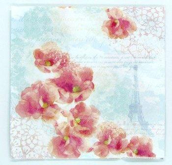 Guardanapo 33cm x 33cm Floral Torre Eiffel (2 unidades)