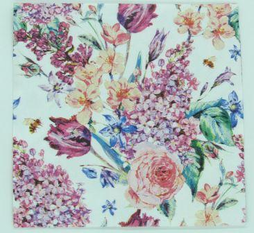 Guardanapo 33cm x 33cm Floral Lilás (2 unidades)