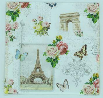 Guardanapo 33cm x 33cm Floral fd. Paris (2 unidades)