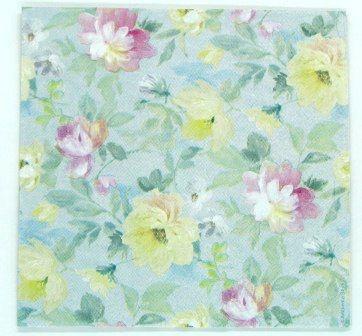 Guardanapo 33cm x 33cm Floral Aquarelado (2 unidades)