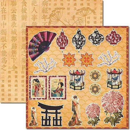 Papel Scrap Dupla Face Oriental 6 Arte Fácil