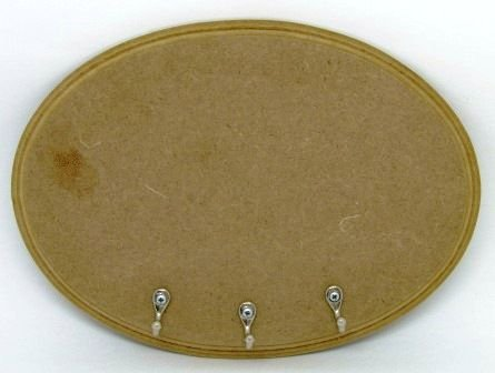 Placa Oval em MDF (6mm)