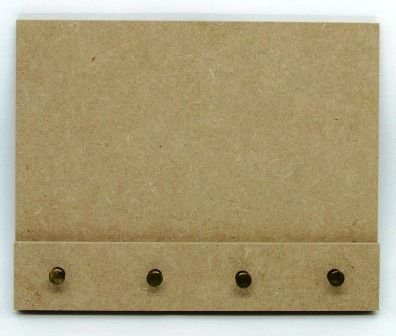 Quadro Porta-Chaves em MDF (9mm) com 4 Pinos de Metal