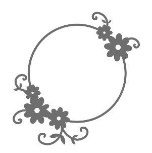 Recorte Laser Chipboard Moldura com Flores (2 unidades)
