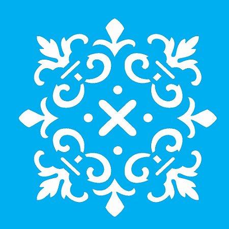 Stencil 10cm x 10cm Ladrilho Cruzeta (OPA1346)