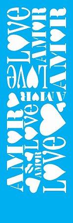 Stencil 10cm x 30cm Amor (OPA0483)