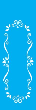 Stencil 10cm x 30cm Moldura Arabesco (OPA0716)