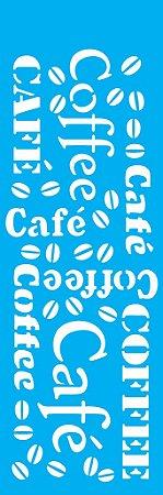 Stencil 10cm x 30cm Estampa Café (OPA0742)