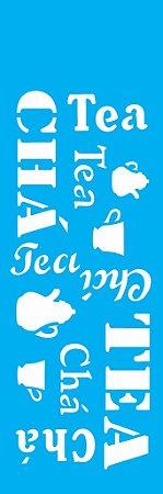 Stencil 10cm x 30cm Estampa Chá (OPA0743)