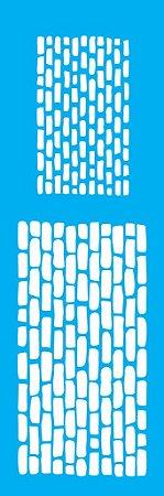 Stencil 10cm x 30cm Tijolos III (OPA1084)