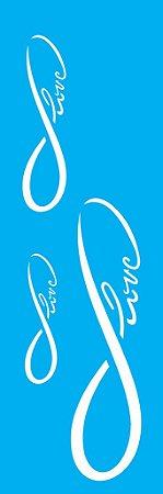 Stencil 10cm x 30cm Infinito Love (OPA1724)