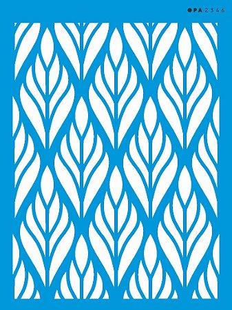 Stencil 15cm x 20cm Estamparia Folhagem (OPA2346)
