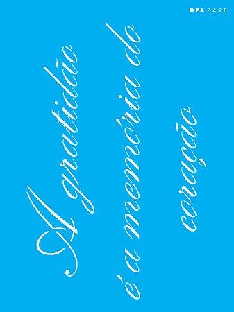 """Stencil 15cm x 20cm Frase """"Gratidão"""" (OPA2498)"""