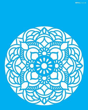 Stencil 20cm x 25cm Mandala Flor Redonda (OPA2460)