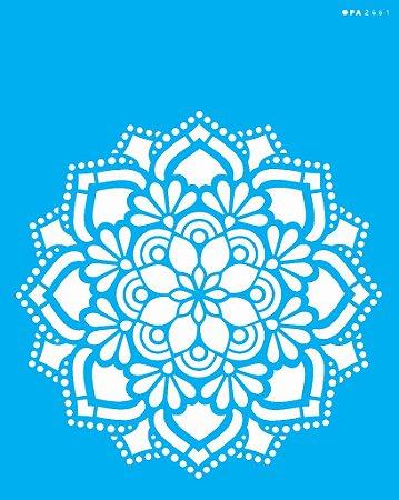 Stencil 20cm x 25cm Mandala Flor Renda (OPA2461)