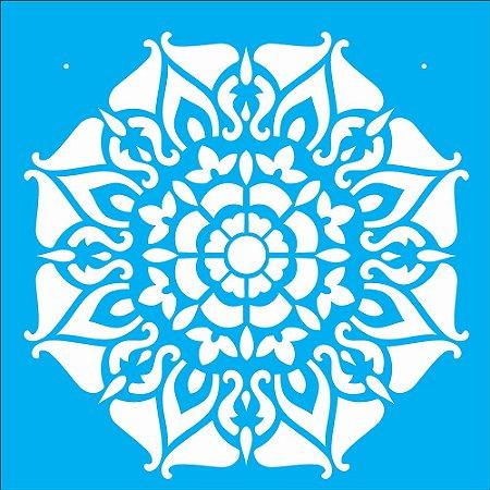 Stencil 30,5cm x 30,5cm Mandala II Camada I (OPA2297)