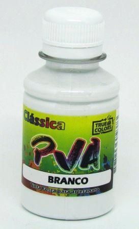 Tinta PVA Fosca 100ml Branca True Colors