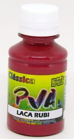Tinta PVA Fosca 100ml Laca Rubi True Colors