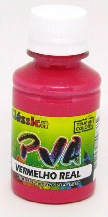 Tinta PVA Fosca 100ml Vermelho Real True Colors