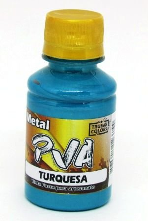 Tinta PVA Metal 100ml Azul Turquesa True Colors