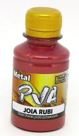Tinta PVA Metal 100ml Jóia Rubi True Colors