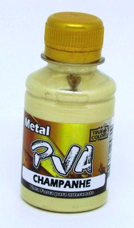Tinta PVA Metal 100ml Champanhe True Colors