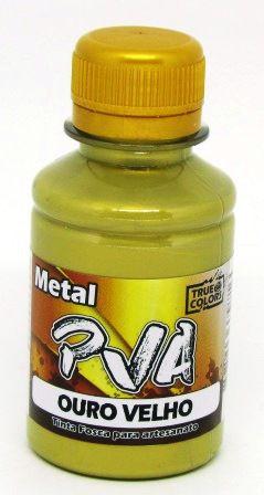 Tinta PVA Metal 100ml Ouro Velho True Colors