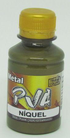 Tinta PVA Metal 100ml Níquel True Colors