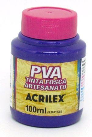 Tinta PVA Fosca 100ml Violeta Acrilex