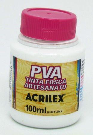 Tinta PVA Fosca 100ml Branca Acrilex