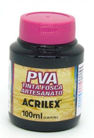 Tinta PVA Fosca 100ml Preta Acrilex