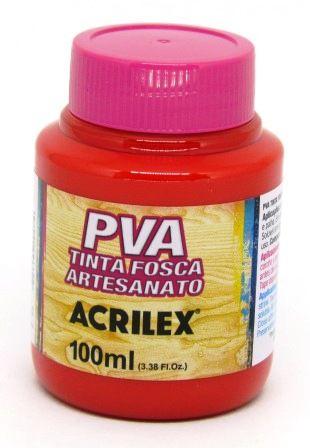 Tinta PVA Fosca 100ml Vermelho Vivo Acrilex