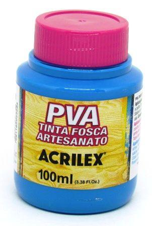 Tinta PVA Fosca 100ml Azul Cerúleo Acrilex