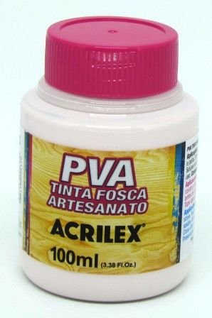 Tinta PVA Fosca 100ml Rosa Bebê Acrilex
