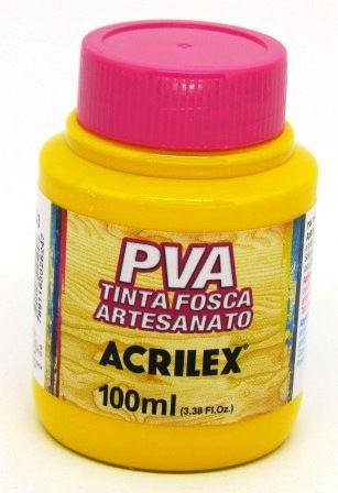 Tinta PVA Fosca 100ml Amarelo Gema Acrilex