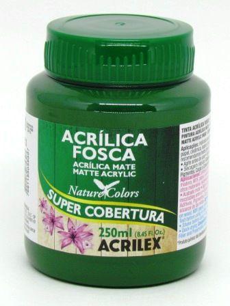 Tinta Acrilica Fosca 250ml Verde Musgo Acrilex