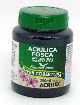 Tinta Acrilica Fosca 250ml Preta Acrilex